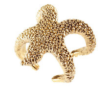 New Elegant Women Retro Gold Plated Alloy Cute Starfish Finger Ring Gift Size 7