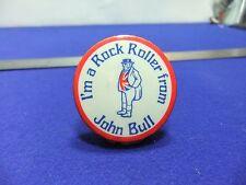 vtg badge john bull tyres i'm a rock roller 1960s tin badge motor motoring