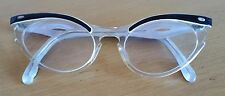 Vintage MID CENTURY Zylite ROCKABLLY CAT EYE GLASSES Stamped 51
