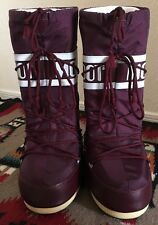 TECNICA US SIZE 8.5 THE ORIGINAL MOON BOOT Burgundy Winter Snow Boots Purple