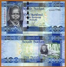 South Sudan, 100 Pounds, 2011, P-10a, UNC   ZZ, REPLACEMENT