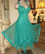 TTO65 -  Masquerade TULLE Gown Med Party Cocktail Prom Dress Formal Bridal Gown