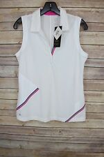NEW Womens EP Pro sleeveless golf top shirt Medium White / Design #2230