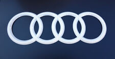 Audi Rings White Trunk Rear A3 S3 A4 S4 RS4 A5 S5 RS5 A6 S6 TT TTRS Badge Emblem