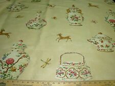 """~8 2/8 YDS~TRAVERS&CO~""""CUTHBERT HALL""""ANIMALS~UPHOLSTERY FABRIC FOR LESS~ENGLAND~"""