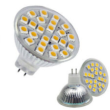 MR16 220V 4.5-5W 24 5050 SMD LED de luz de 180º caliente 420lm Bulbo Blanca