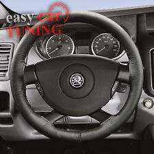 FOR VAUXHALL OPEL VIVARO 2001 + BLACK REAL GENUINE LEATHER STEERING WHEEL COVER