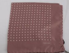 NWT TOM FORD POCKET SQUARE Mauve with White Polka Dots 100% SILK #TF757