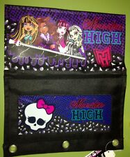 Monster  High Pencil  And School Supplies Case Attaches Inside Binder NEW