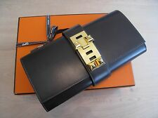 RARE HERMES Medor 29cm Clutch Chocolate Brown Gold GHW CDC Collier de Chien‏