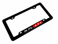 GM CHEVY CHEVROLET PONTIAC 5.7L LT1 LT-1 ENGINE LICENSE PLATE TAG FRAME BLACK