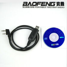 USB Programming Cable+CD for Walkie Talkie BAOFENG UV5R V2+ UV82 UV5RE Plus A117