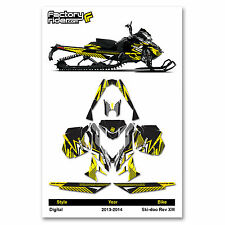 2013-2014 SKI DOO XM SNOWMOBILE GRAPHICS DIGITAL STYLE BY ENJOY MFG / 137 TRACK