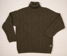 FISHERMAN OUT OF IRELAND POLO Aran Jumper Wool jumper Cable knit Mens sweater L