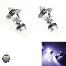 2x H7 6000K 100W LED 20-SMD Cree Projector Fog Driving DRL Light Bulbs HID White