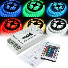 24 Keys RGB LED Strip Music Sound 3 Channel IR Remote Controller Dimmer DC12-24V