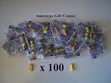 EarPlugs 100 Pair Howard Leight Laser Lite  Individually Wrapped NRR 32DB