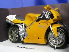 DUCATI 998S NEW RAY 43693 1:12 NEW MODEL BIKE YELLOW MOTORBIKE NEWRAY