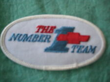"Vintage Chevrolet The Number 1 Racing Team Patch 3 1/2"" X 2 """