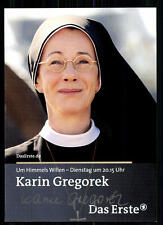 Karin Gregorek Um Himmels Willen Autogrammkarte Original Signiert## BC 9036