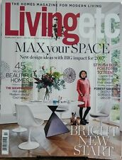 Living Etc UK Feb 2017 Max Your Space Bright New Start Designs FREE SHIPPING sb