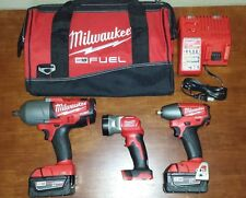 "Milwaukee M18 FUEL 3/8""+1/2"" High Torque Impact Wrench+Light Combo kit #2896-23"