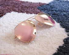 Ray-Ban Aviator Sunglasses RB3025 -Gold Frame Pink-Flash lenses 58mm Unisex