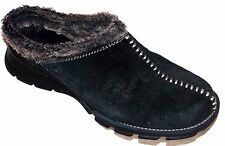 COLUMBIA WOMENS CORTINA SUEDE FLEECE LINED SLIP ON MOCS MULES SIZE-8.5