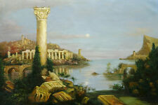 """Thomas_Cole Reproductions Oil Painting -  Course of Empire: Desolation - 36""""x24"""""""