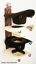 American Made Cowboy Hat Rack with Stars Powder Coated Rust with Cowboy Roper