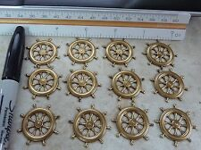 brass stamping finding SHIPS WHEEL dangle drop jewelry makers lot  A102