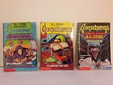 Lot of 3 Goosebumps Books R. L. Stine paperback Reader Beware # 6, 7, 42