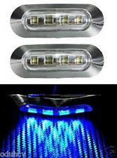 2x LED Feux De Position pour Camion Bus Van LKW Camping car Remorque 12V Chrome