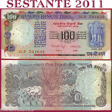 INDIA -  100 RUPEES nd 1990  Without Letter  -  Sign. 83  - P 86b  -  BB / VF