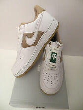 MEN'S NEW IN BOX NIKE AIR FORCE 1 '07 HAY/WHITE-PINE GREEN SIZE 10.5