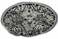 New Men Women Gunmetal Pewter Color Metal Belt Buckle King Crown Queen Bling