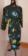 NYE asos midi greeb floral kimono dress uk 10 us 6 eu 38 new with tags