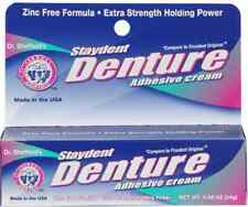 DR SHEFFIELD'S Staydent DENTURE Adhesive Cream Zinc Free Formula GLUE DENTAL