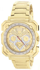 Aqua Master Mens Gold Tone Dial Gold Tone Steel Bracelet Diamond Watch W#355