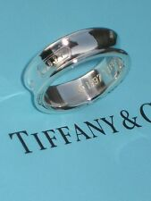 Tiffany & Co. Sterling Silver Size 9 Wide Band 1837 Ring