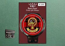 Royale Classic Car Badge & Bar Clip CLAN WALLACE TARTAN SCOTLAND B1.2659