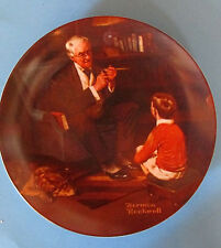 1981 The Tycoon By Norman Rockwell  Knowles Fine China Plate Number AH11424