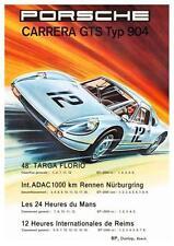 Porsche *POSTER*  904 Carrera GTS Le Mans Targa Florio Nurburgring AMAZING PRINT