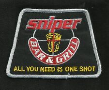 SNIPER BAR & GRILL ALL YOU NEED IS ONE SHOT TACTICAL MORALE BIKER MILITARY PATCH