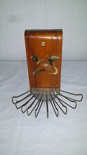 VINTAGE DUCK  BELT TIE RACK