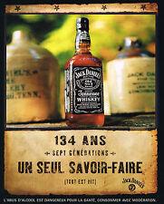 PUBLICITE ADVERTISING 075  2001  JACK DANIEL'S whisky 7 générations