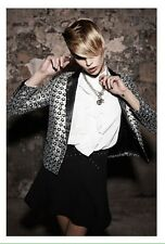 Bnwt 100% auth THE KOOPLES, mesdames luxe emblématique paillettes veste. s prix de vente conseillé 325.00 €