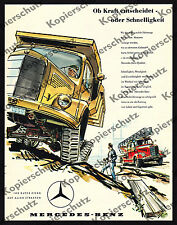 or. Reklame Mercedes-Benz Feuerwehr Löschzug Lkw Bauwesen Kipplader Technik 1958