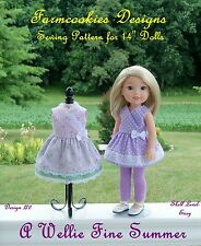 """SEWING PATTERN for American Girl WELLIE WISHERS or other 14"""" Doll by Farmcookies"""