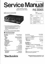 Technics Service Manual für RS-B 965